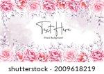 elegant hand drawn pink...   Shutterstock .eps vector #2009618219