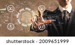 fingerprint scanning theme with ...   Shutterstock . vector #2009651999