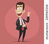 character businessman happy... | Shutterstock .eps vector #200965346