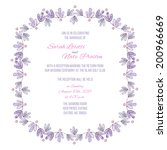 wedding lavender wreath... | Shutterstock . vector #200966669