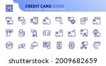 outline icons about credit card.... | Shutterstock .eps vector #2009682659