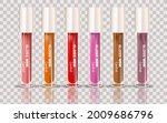 lip gloss template. lip cream...   Shutterstock .eps vector #2009686796