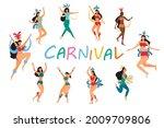 flat illustration brazilian... | Shutterstock .eps vector #2009709806