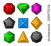 set of multicolored gems for... | Shutterstock .eps vector #200973218