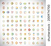 unusual icons set   isolated on ... | Shutterstock .eps vector #200974700