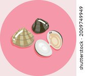 illustration of seashell and...   Shutterstock .eps vector #2009749949