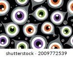 halloween eyeball seamless... | Shutterstock .eps vector #2009772539