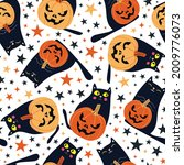 seamless pattern with festive... | Shutterstock .eps vector #2009776073