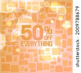 everything 50 percents off sale ...   Shutterstock .eps vector #2009788679