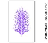 creative poster with feather.... | Shutterstock .eps vector #2009816240