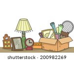 illustration of old items that... | Shutterstock .eps vector #200982269