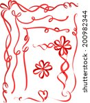 illustration featuring ribbon... | Shutterstock .eps vector #200982344
