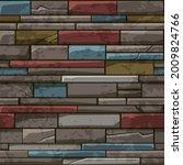 seamless pattern of stone brick ...