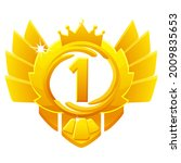 golden award 1st place  crown...