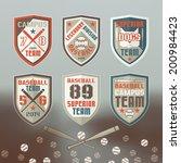 set of emblems baseball team in ... | Shutterstock .eps vector #200984423