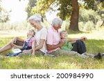 grandparents with grandchildren ...   Shutterstock . vector #200984990