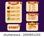 vector game template gui kit....