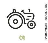 tractor farmer machine vector...   Shutterstock .eps vector #2009872409