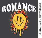 retro distorted melting burning ... | Shutterstock .eps vector #2009884640