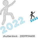 mesh man climbing 2022 model... | Shutterstock .eps vector #2009954600