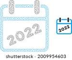 mesh 2022 calendar model icon.... | Shutterstock .eps vector #2009954603