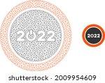 mesh start 2022 round button... | Shutterstock .eps vector #2009954609