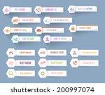 vector flat modern web buttons