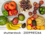 Image Of Fruits And Vegetables...