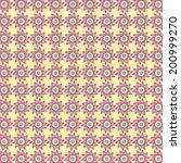 abstract tribal flower pattern | Shutterstock .eps vector #200999270