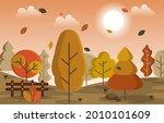 autumn fall season countryside...   Shutterstock .eps vector #2010101609