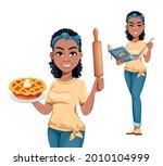 pretty african american... | Shutterstock .eps vector #2010104999