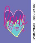 love of my life t shirt design... | Shutterstock .eps vector #2010105509