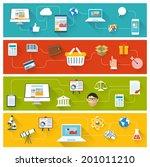 vector flat design website ui...