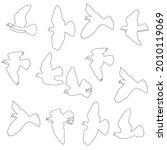 Pigeons  Doves. Sign  Symbol ...