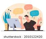 influencer blogger having... | Shutterstock .eps vector #2010122420