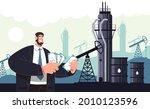 rich man character count money. ... | Shutterstock .eps vector #2010123596