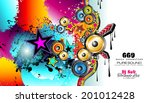party club flyer for music... | Shutterstock . vector #201012428