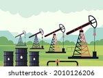 industrial zone oil drilling... | Shutterstock .eps vector #2010126206