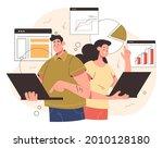 working team man woman... | Shutterstock .eps vector #2010128180