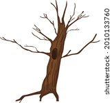 cartoon dry tree with hollow... | Shutterstock .eps vector #2010133760