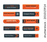 call to action web buttons | Shutterstock .eps vector #201015914