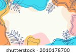 abstract pastel organic shapes... | Shutterstock .eps vector #2010178700