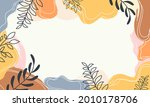 abstract pastel organic shapes... | Shutterstock .eps vector #2010178706
