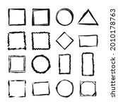 set of grunge frames. empty... | Shutterstock .eps vector #2010178763