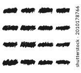 set of grunge brush strokes.... | Shutterstock .eps vector #2010178766