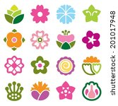 flower icon colorful | Shutterstock .eps vector #201017948