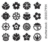 flower icon black | Shutterstock .eps vector #201017954