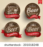 retro set styled label of beer. ... | Shutterstock .eps vector #201018248
