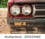 old car headlights   Shutterstock . vector #201019460