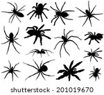 collection of silhouettes of... | Shutterstock .eps vector #201019670